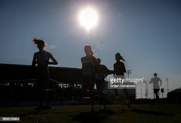 Athletes compete during the U23 Women's race of SPAR European Cross Country Championships on December 10 2017 in Samorin Slovakia