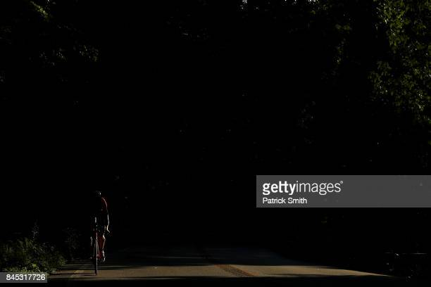 Athletes compete in the IRONMAN 703 Men's World Championship on September 10 2017 in Chattanooga Tennessee