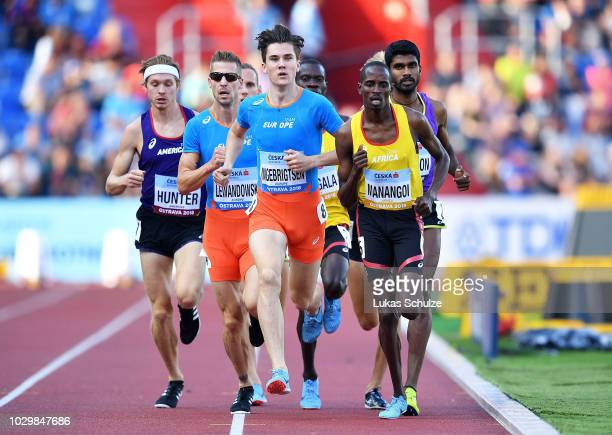 Athletes compete in the Mens 1500 Metres during day two of the IAAF Continental Cup at Mestsky Stadium on September 9 2018 in Ostrava Czech Republic