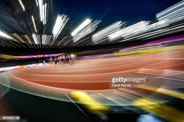 Athletes compete in the Men's 1500 metres semifinal during day seven of the 16th IAAF World Athletics Championships London 2017 at The London Stadium...