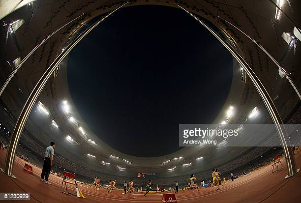 Athletes compete in the women's 800m during day four of the Good Luck Beijing 2008 China Athletics Open at National Stadium May 25, 2008 in Beijing,...