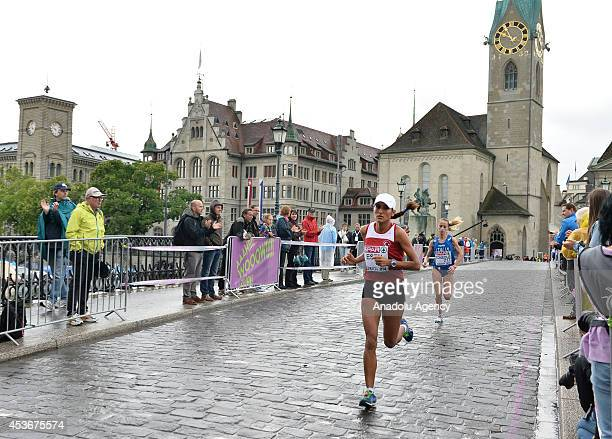 Athletes compete in the women's marathon during day five of the 22nd European Athletics Championships in Zurich Switzerland on August 16 2014