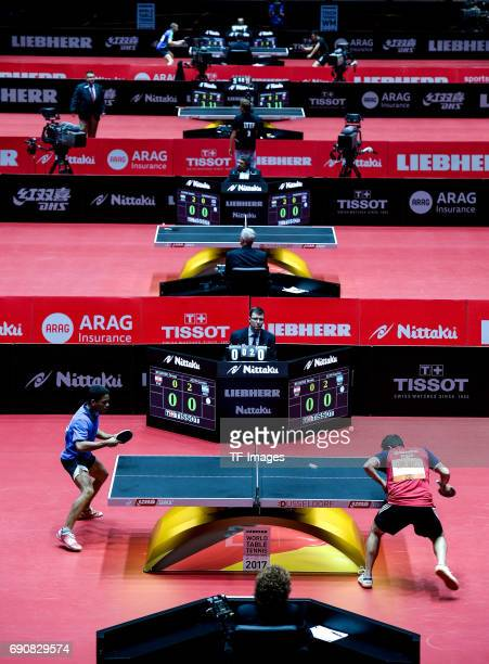 Athletes compete'n in action during the Table Tennis World Championship at Messe Duesseldorf on May 29 2017 in Dusseldorf Germany