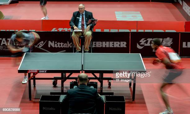 """Athletes compete""""n in action during the Table Tennis World Championship at Messe Duesseldorf on May 29, 2017 in Dusseldorf, Germany."""