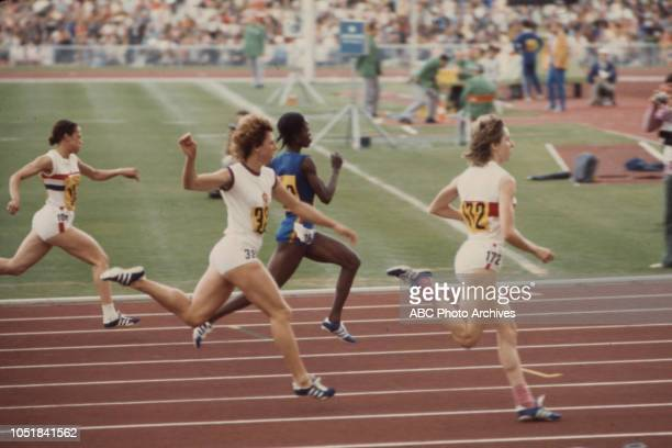 Athletes competing in the Women's 100 metres event at the 1972 Summer Olympics / the Games of the XX Olympiad Olympiastadion