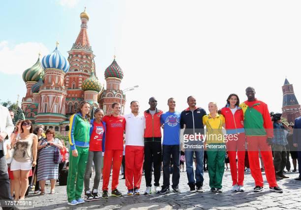 Athletes Fabiana Murer of Brazil, Allyson Felix of the USA, Yuriy Borzakovskiy of Russia, Koji Murofushi of Japan, Asbel Kiprop of Kenya, Ashton...