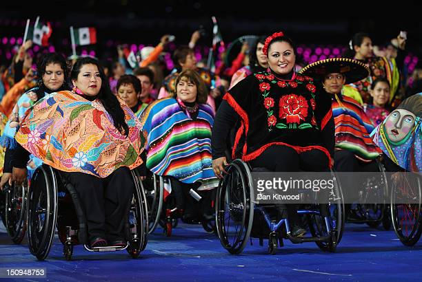 Athletes from Mexico during the Opening Ceremony of the London 2012 Paralympics at the Olympic Stadium on August 29 2012 in London England