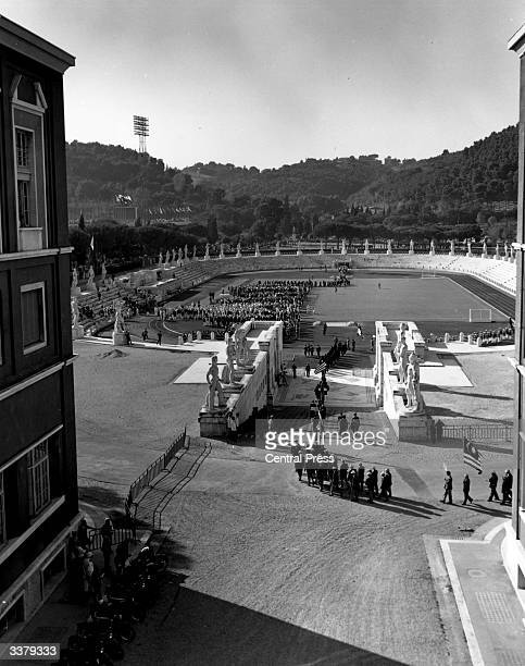 Athletes gathering for the opening ceremony at the Olympics in Rome.