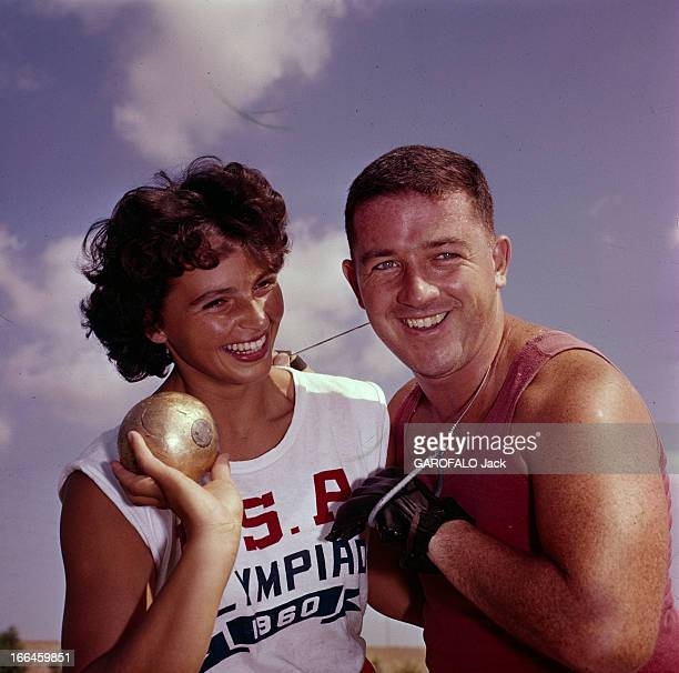 Athletes Harold Connolly And Olga Fikotova At Rome Olympic Games 1960 Rome Jeux olympiques d'été de 1960 25 août au 11 septembre Portrait des...
