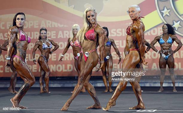 Athletes in action during the Arnold Classic Madrid 2014 in Madrid Spain on September 26 2014