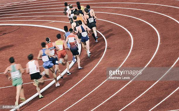 Athletes in action during the Mens 500m Final during day five of the 23rd European Athletics Championships at Olympic Stadium on July 10 2016 in...