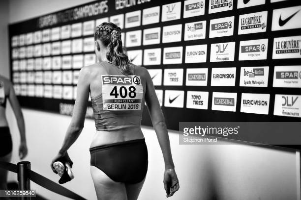 Athletes in the Mixed Zone during day two of the 24th European Athletics Championships at Olympiastadion on August 8 2018 in Berlin Germany This...