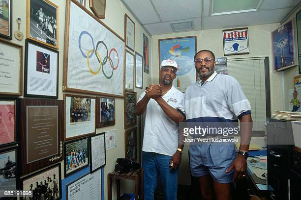 """Athletes John Carlos and Tommie Smith were banished from the U.S. Team and Olympic Village after employing """"black power"""" gestures during the playing..."""