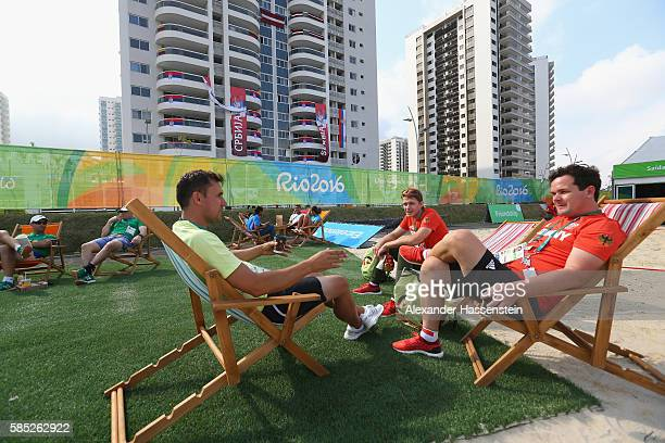 Athletes of Germany relax at the Olympic Village ahead of the Rio 2016 Olympic Games on August 2 2016 in Rio de Janeiro Brazil