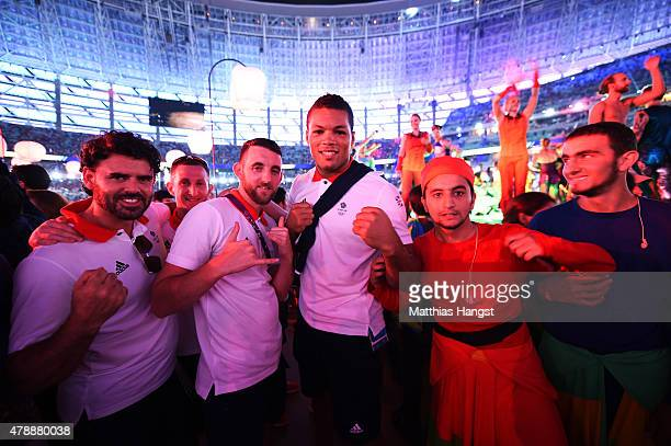 Athletes of Great Britain celebrate during the Closing Ceremony for the Baku 2015 European Games at Olympic Stadium on June 28 2015 in Baku Azerbaijan