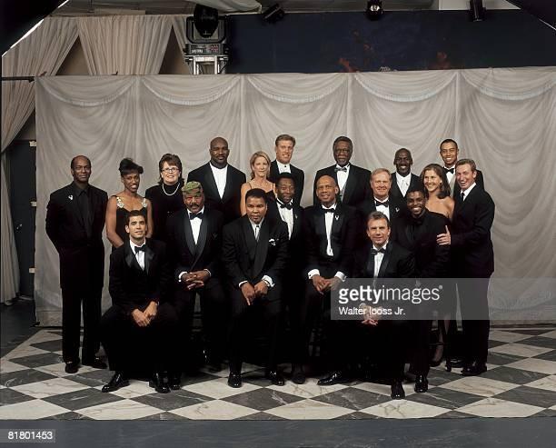 Clockwise from left Bob Beamon Jackie Joyner Kersee Billie Jean King Evander Hollyfield Chris Evert John Elway Bill Russell Michael Jordan Tiger...