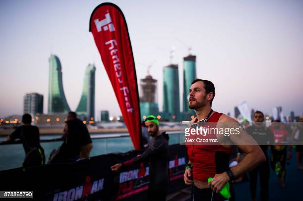 Athletes prepare ahead of IRONMAN 703 Middle East Championship Bahrain on November 25 2017 in Bahrain Bahrain