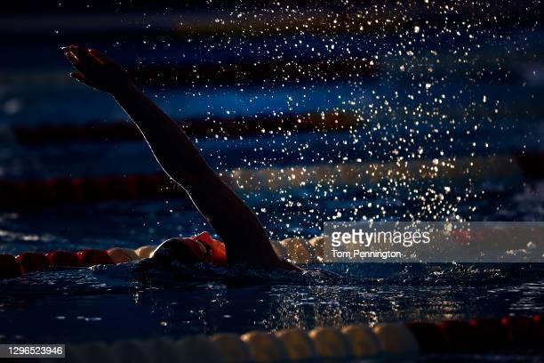 Athletes prepare for prelim heat races on Day Two of the TYR Pro Swim Series at San Antonio on on January 15, 2021 in San Antonio, Texas.