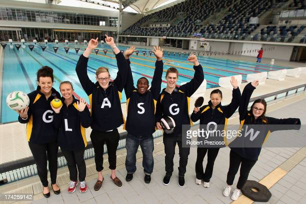 Athletes representing various sports show their support during a media opportunity to mark the one year countdown until the 2014 Commonwealth Games...