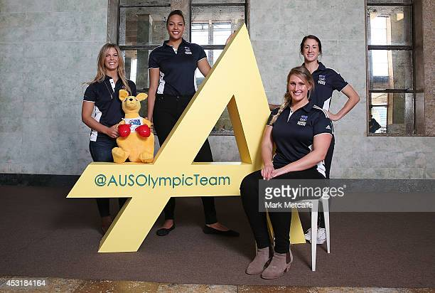 Athletes Torah Bright Liz Cambage Holly LincolnSmith and Alicia Quirk pose during the Two Years To Go countdown ahead of the 2016 Rio Olympic Games...