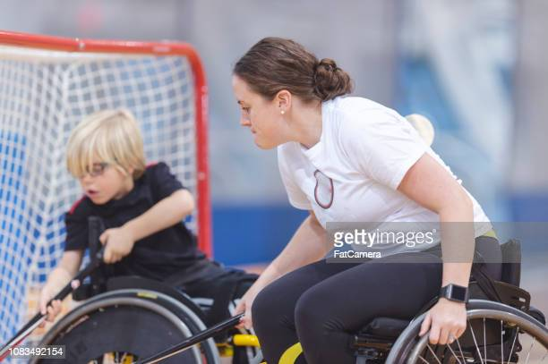 athletes using wheelchairs - fat goalkeeper stock pictures, royalty-free photos & images