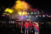 gold coast australia athletes watch during
