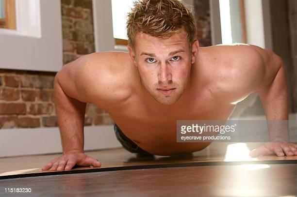 athletic adult male portrait