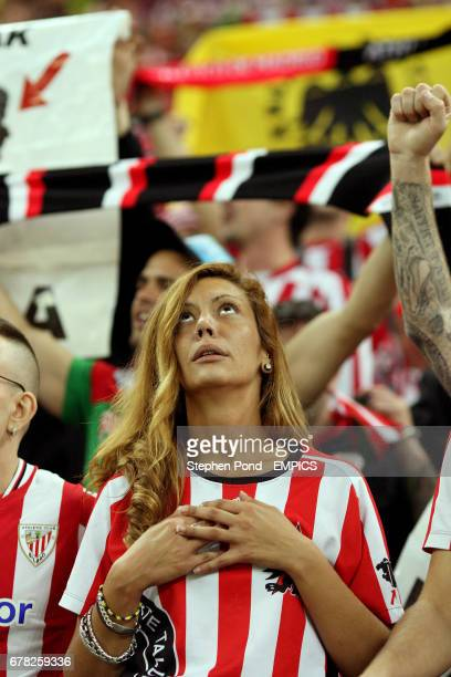 Athletic Bilbao fans in the stands