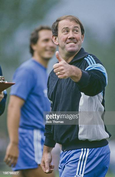 Athletic Bilbao manager Howard Kendall at a pre-season training session, Spain, 27th July 1987.