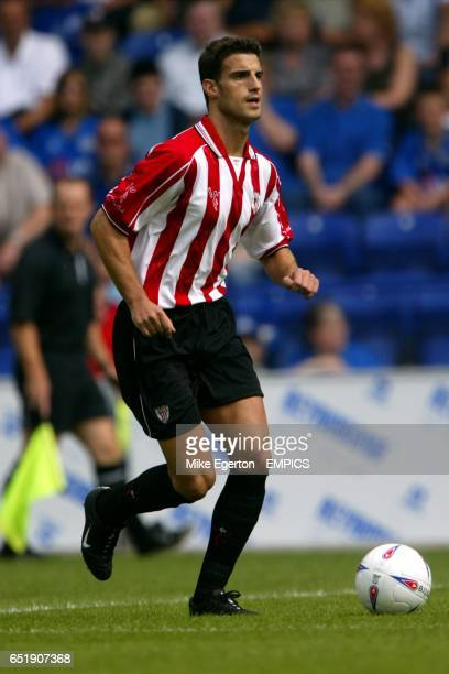 Athletic Bilbao's Aitor Ocio in action during the match against Leicester City