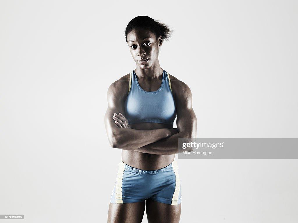 Athletic Black Female : Stock Photo