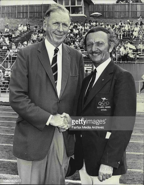 NSW Athletic Championship Men at Sydney Athletic FieldIn picture Opening ceremony Lord Mayor of Sydney Ald Griffin with Mr V J Chalwin President of...