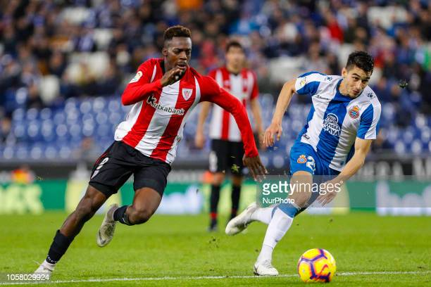 Athletic CLub Bilbao forward Inaki Williams during the match RCD Espanyol against Athletic Club for the round 11 of the Liga Santander played at RCD...