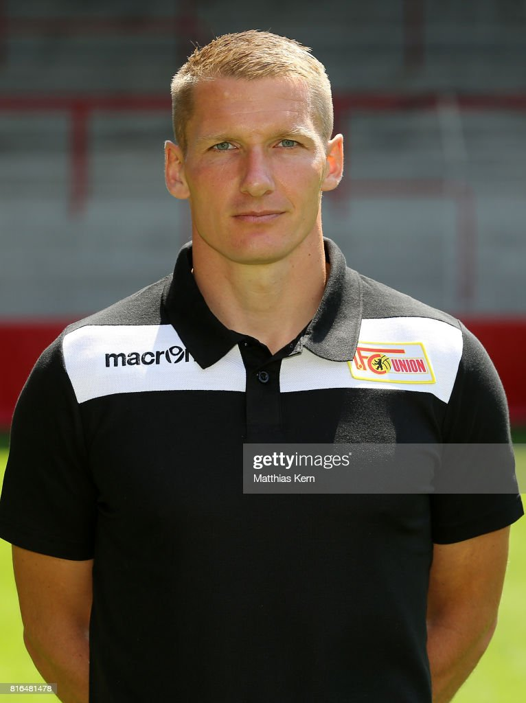 Athletic coach Martin Krueger of 1. FC Union Berlin poses during the team presentation at Stadion an der Alten Foersterei on July 17, 2017 in Berlin, Germany.
