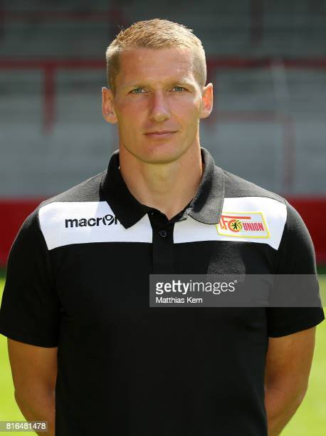 Athletic coach Martin Krueger of 1 FC Union Berlin poses during the team presentation at Stadion an der Alten Foersterei on July 17 2017 in Berlin...