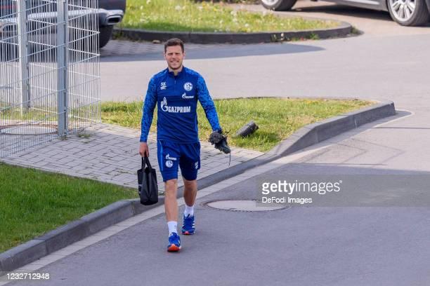 Athletic coach Sebastian Klein of FC Schalke 04 looks on during the FC Schalke 04 Training Session on May 03, 2021 in Gelsenkirchen, Germany.