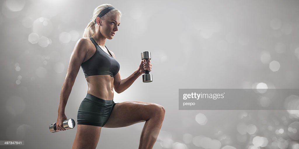 Athletic Female Training : Stock Photo