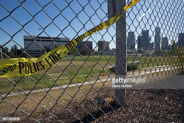 Athletic fields stand empty at Edward R Roybal Learning Center as all Los Angeles city schools are shut down in reaction to a threat on December 15...