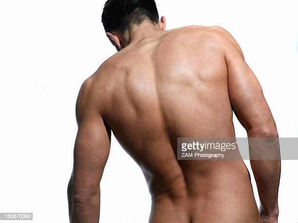 Athletic man, back, shoulders