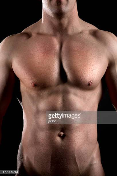 Athletic man's abdomen