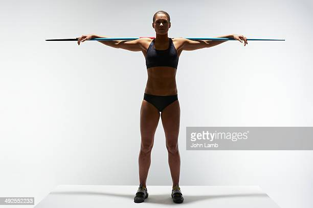 athletic symmetry - javelin stock pictures, royalty-free photos & images