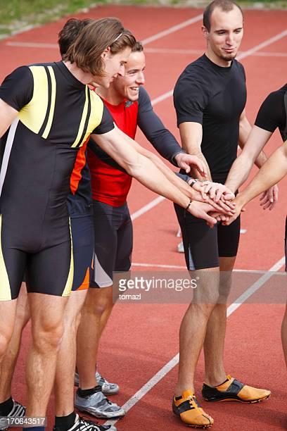 Athletic team at start
