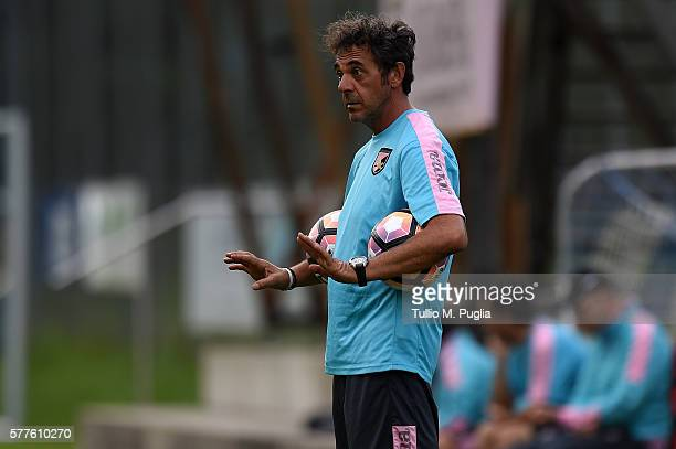 Athletic Trainer Andrea Rinaldi in action during a training session at US Citta' di Palermo training base on July 19 2016 in Bad Kleinkirchheim...