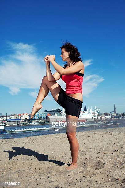 Sportliche Frau Posieren