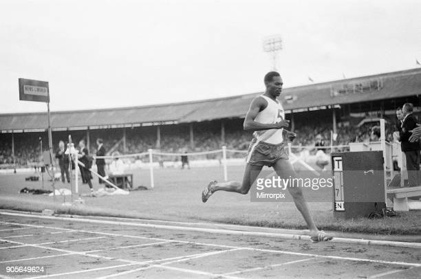 Athletics at White City London Saturday 12th August 1967 Our picture shows Kipchoge Keino of Kenya finishes second in the mile