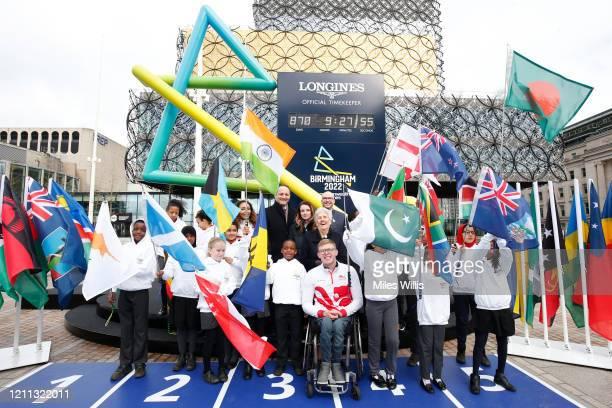 Athletics athlete Sarah McDonald of Team England David Grevemberg Chief Executive of the Commonwealth Games Federation Matthieu Baumgartner Vice...
