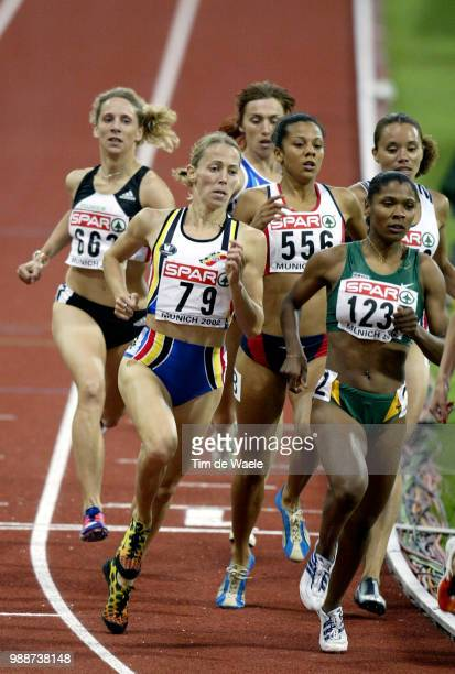 Europe Champ 2002 Munchen Gesell Claudia Stals Sandra Fenn Joanne Semedo Nedia /Championnats Europe Athletisme Europese Kampioenschappen Atletiek...