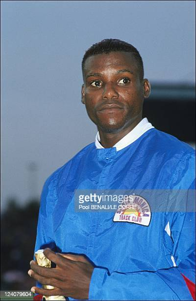 Athletics/ Meeting in Villeneuve D'Ascq, France on July 01, 1991- Carl Lewis.