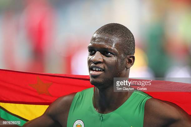 Day 9 Kirani James of Grenada after winning the silver medal during the Men's 400m Final at the Olympic Stadium on August 14 2016 in Rio de Janeiro...