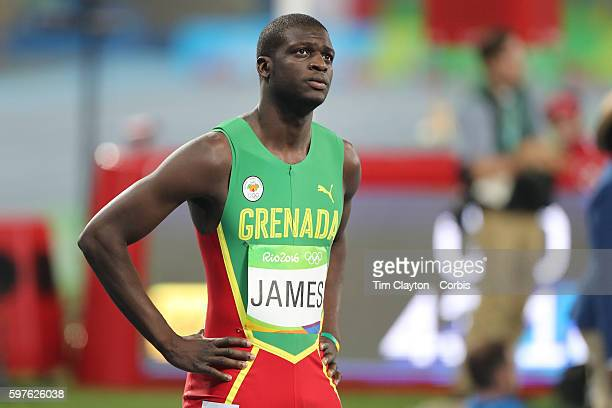 Day 9 Kirani James of Grenada preparing for the Men's 400m Final at the Olympic Stadium on August 14 2016 in Rio de Janeiro Brazil